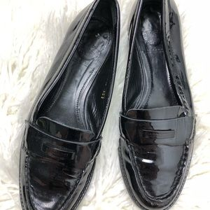 Burberry Patent Leather Loafers 38.5